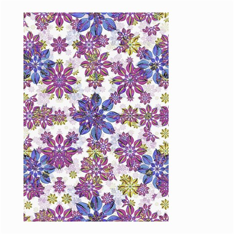 Stylized Floral Ornate Pattern Small Garden Flag (Two Sides)