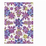 Stylized Floral Ornate Pattern Small Garden Flag (Two Sides) Back