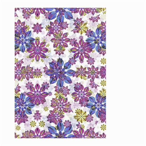 Stylized Floral Ornate Pattern Large Garden Flag (Two Sides)