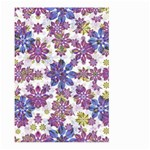 Stylized Floral Ornate Pattern Large Garden Flag (Two Sides) Front