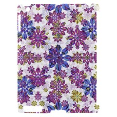 Stylized Floral Ornate Pattern Apple iPad 2 Hardshell Case (Compatible with Smart Cover)