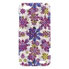 Stylized Floral Ornate Pattern HTC One V Hardshell Case