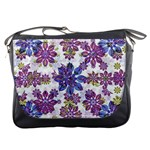 Stylized Floral Ornate Pattern Messenger Bags Front