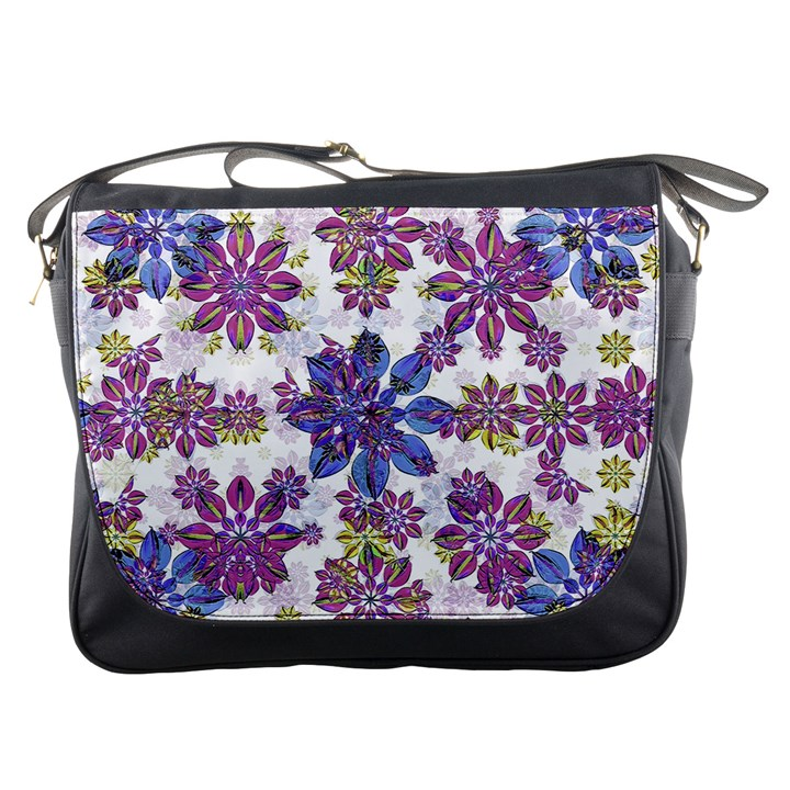 Stylized Floral Ornate Pattern Messenger Bags