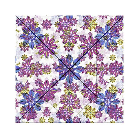 Stylized Floral Ornate Pattern Acrylic Tangram Puzzle (6  x 6 )