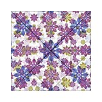 Stylized Floral Ornate Pattern Acrylic Tangram Puzzle (6  x 6 ) Front