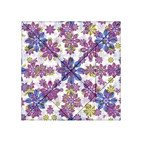 Stylized Floral Ornate Pattern Acrylic Tangram Puzzle (4  x 4 )