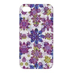 Stylized Floral Ornate Pattern Apple Iphone 4/4s Premium Hardshell Case