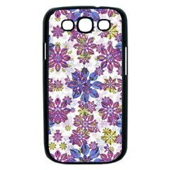 Stylized Floral Ornate Pattern Samsung Galaxy S III Case (Black)