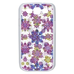 Stylized Floral Ornate Pattern Samsung Galaxy S III Case (White)