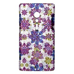 Stylized Floral Ornate Pattern Sony Xperia ion