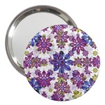 Stylized Floral Ornate Pattern 3  Handbag Mirrors Front
