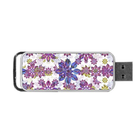 Stylized Floral Ornate Pattern Portable USB Flash (One Side)