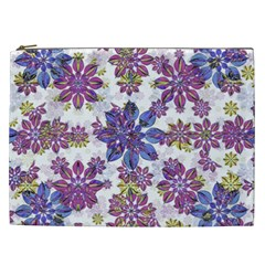 Stylized Floral Ornate Pattern Cosmetic Bag (XXL)