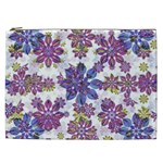 Stylized Floral Ornate Pattern Cosmetic Bag (XXL)  Front