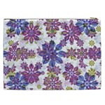 Stylized Floral Ornate Pattern Cosmetic Bag (XXL)  Back