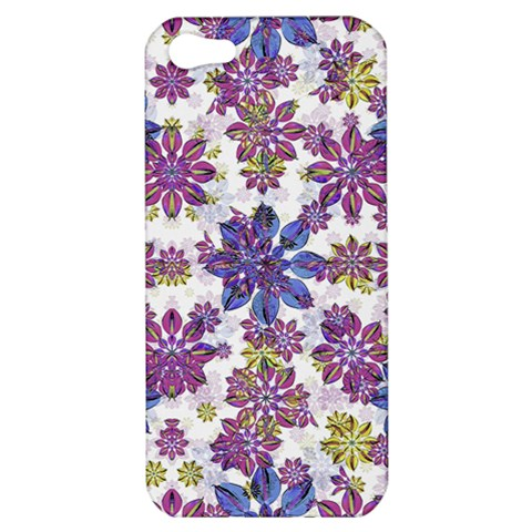 Stylized Floral Ornate Pattern Apple iPhone 5 Hardshell Case