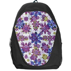 Stylized Floral Ornate Pattern Backpack Bag
