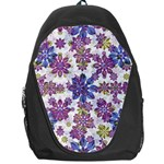 Stylized Floral Ornate Pattern Backpack Bag Front