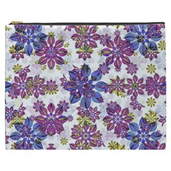 Stylized Floral Ornate Pattern Cosmetic Bag (XXXL)