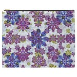 Stylized Floral Ornate Pattern Cosmetic Bag (XXXL)  Front