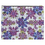 Stylized Floral Ornate Pattern Cosmetic Bag (XXXL)  Back