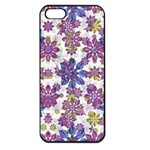 Stylized Floral Ornate Pattern Apple iPhone 5 Seamless Case (Black) Front