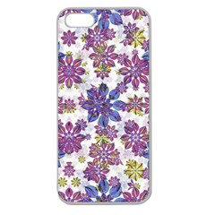 Stylized Floral Ornate Pattern Apple Seamless Iphone 5 Case (clear)