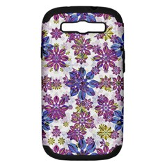 Stylized Floral Ornate Pattern Samsung Galaxy S Iii Hardshell Case (pc+silicone)