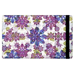 Stylized Floral Ornate Pattern Apple iPad 2 Flip Case