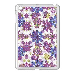 Stylized Floral Ornate Pattern Apple iPad Mini Case (White)