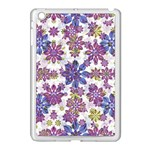 Stylized Floral Ornate Pattern Apple iPad Mini Case (White) Front