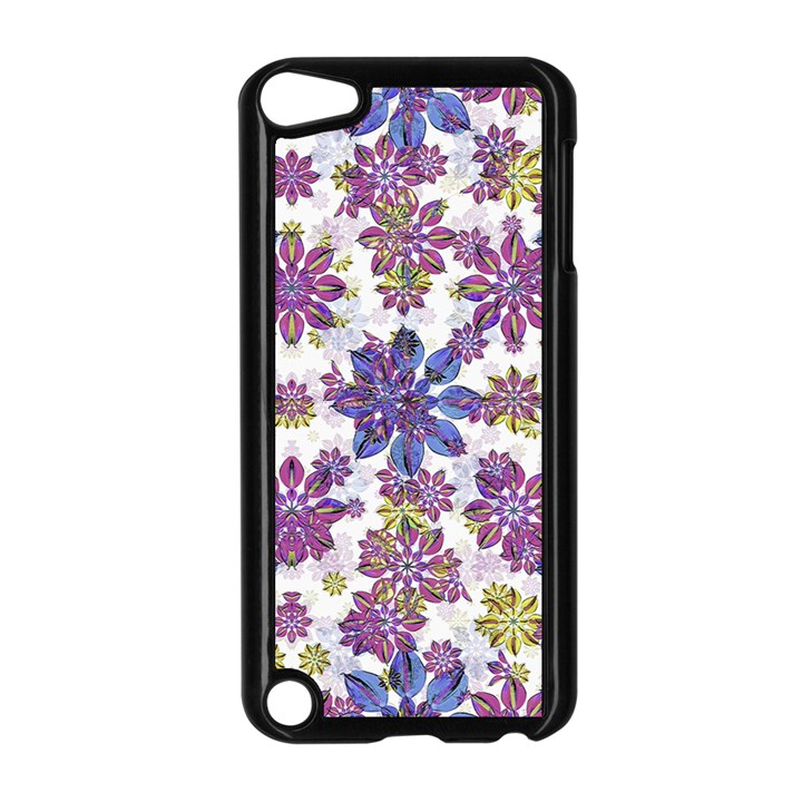 Stylized Floral Ornate Pattern Apple iPod Touch 5 Case (Black)