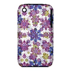 Stylized Floral Ornate Pattern Apple iPhone 3G/3GS Hardshell Case (PC+Silicone)