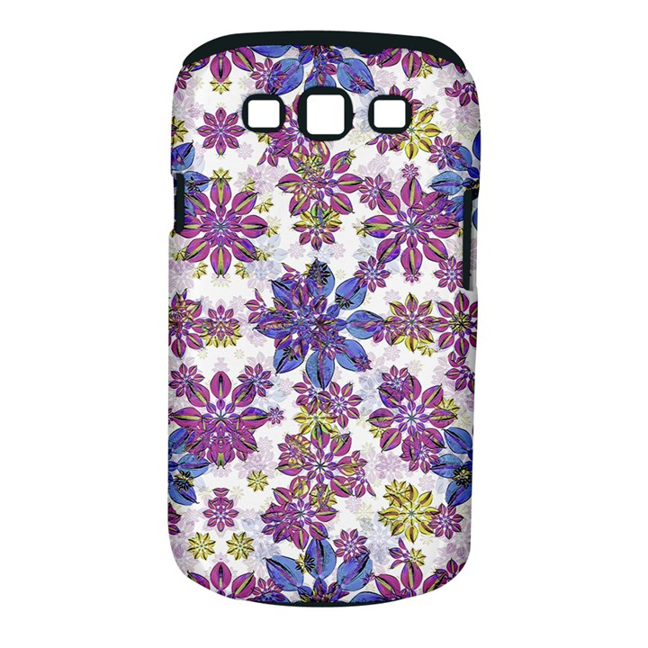 Stylized Floral Ornate Pattern Samsung Galaxy S III Classic Hardshell Case (PC+Silicone)