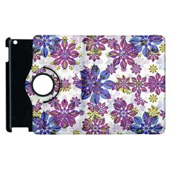 Stylized Floral Ornate Pattern Apple Ipad 3/4 Flip 360 Case