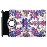 Stylized Floral Ornate Pattern Apple iPad 3/4 Flip 360 Case Front