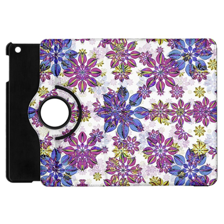 Stylized Floral Ornate Pattern Apple iPad Mini Flip 360 Case