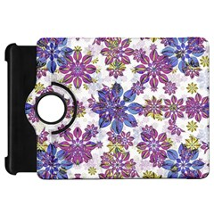 Stylized Floral Ornate Pattern Kindle Fire HD Flip 360 Case