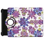Stylized Floral Ornate Pattern Kindle Fire HD Flip 360 Case Front