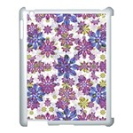 Stylized Floral Ornate Pattern Apple iPad 3/4 Case (White) Front