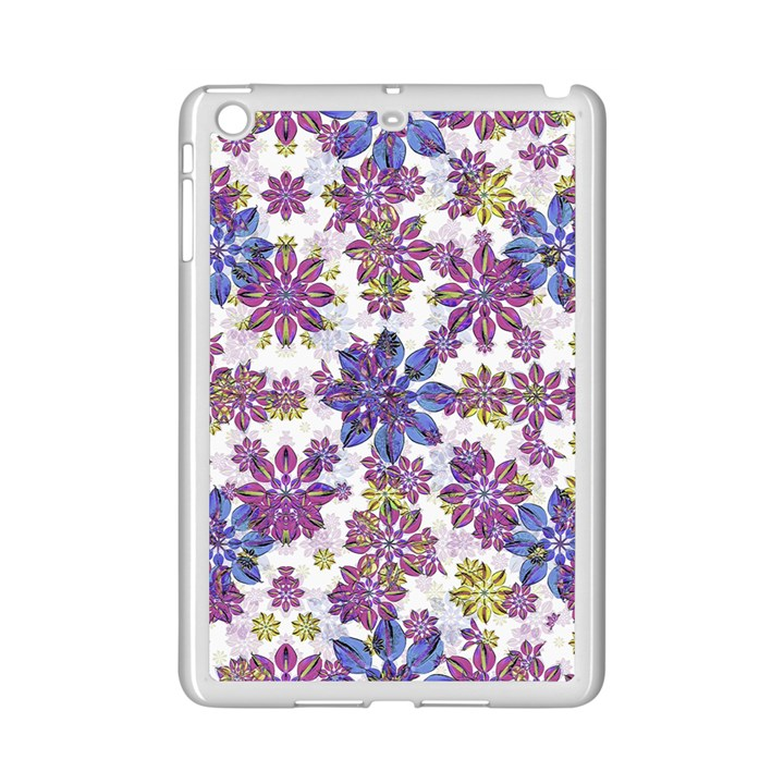 Stylized Floral Ornate Pattern iPad Mini 2 Enamel Coated Cases