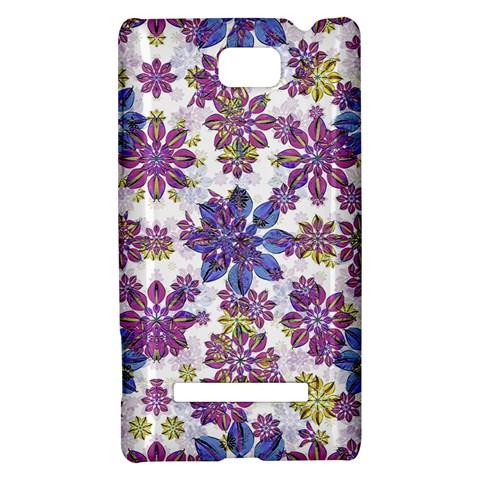 Stylized Floral Ornate Pattern HTC 8S Hardshell Case