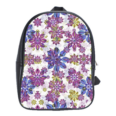 Stylized Floral Ornate Pattern School Bags (XL)