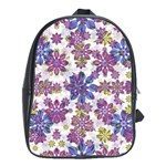 Stylized Floral Ornate Pattern School Bags (XL)  Front