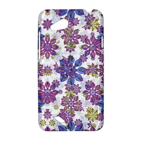 Stylized Floral Ornate Pattern HTC Desire VC (T328D) Hardshell Case