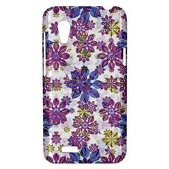 Stylized Floral Ornate Pattern HTC Desire VT (T328T) Hardshell Case
