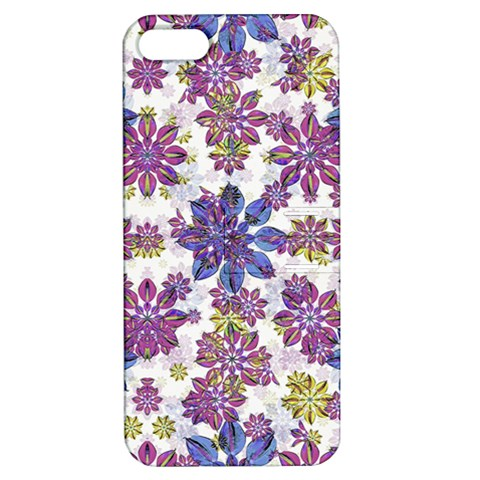 Stylized Floral Ornate Pattern Apple iPhone 5 Hardshell Case with Stand