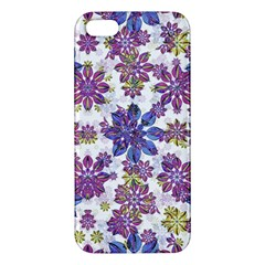 Stylized Floral Ornate Pattern Apple iPhone 5 Premium Hardshell Case