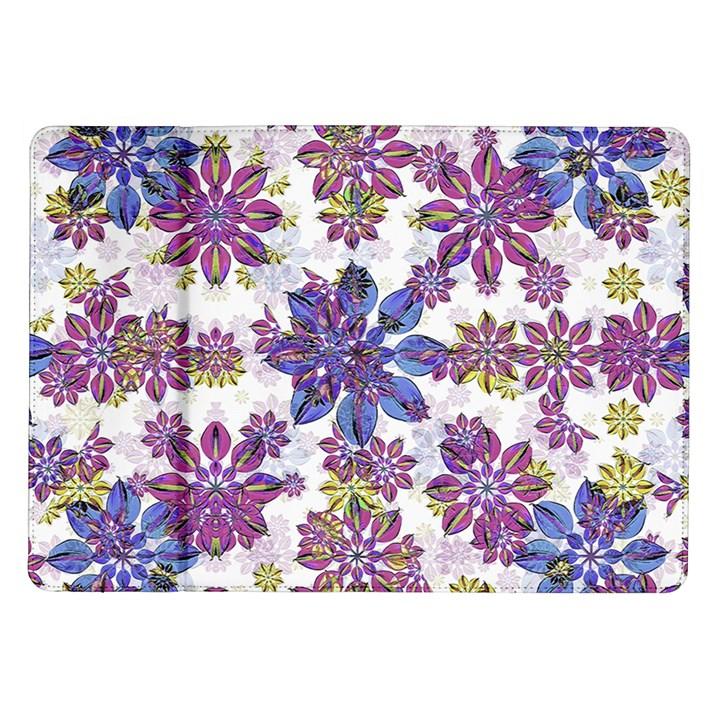 Stylized Floral Ornate Pattern Samsung Galaxy Tab 10.1  P7500 Flip Case